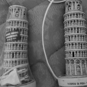 Two Pisa lamps..  Yes from Pisa, Italy 😎